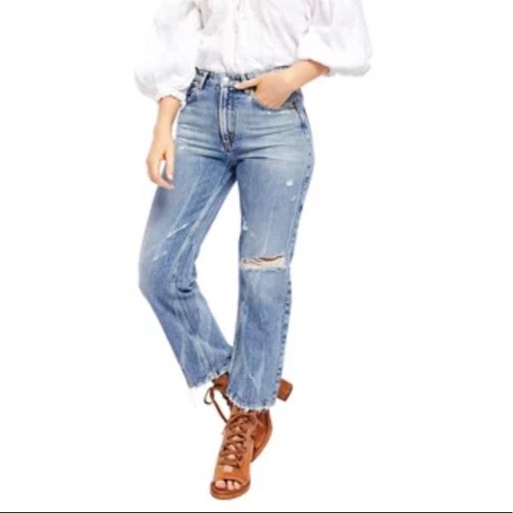 Free people straight leg jean size 25 mom jeans